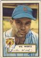 VIC WERTZ DETROIT TIGERS AUTOGRAPHED VINTAGE BASEBALL CARD #90213E