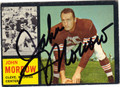 JOHN MORROW CLEVELAND BROWNS AUTOGRAPHED VINTAGE FOOTBALL CARD #90213C