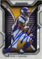 PERCY HARVIN MINNESOTA VIKINGS AUTOGRAPHED FOOTBALL CARD #90413F
