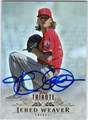 JERED WEAVER LOS ANGELES ANGELS OF ANAHEIM AUTOGRAPHED BASEBALL CARD #90413E