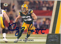 CLAY MATTHEWS GREEN BAY PACKERS AUTOGRAPHED FOOTBALL CARD #90513i