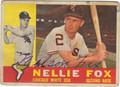 NELLIE FOX AUTOGRAPHED VINTAGE BASEBALL CARD #90611H
