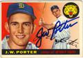 JW PORTER DETROIT TIGERS AUTOGRAPHED VINTAGE BASEBALL CARD #90613i