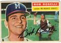 BOB ROSELLI MILWAUKEE BRAVES AUTOGRAPHED VINTAGE BASEBALL CARD #90413L