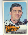 DON NOTTEBART HOUSTON ASTROS AUTOGRAPHED VINTAGE BASEBALL CARD #90313F