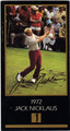JACK NICKLAUS AUTOGRAPHED GRAND SLAM VENTURES GOLF CARD #90713B