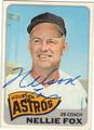 NELLIE FOX HOUSTON ASTROS AUTOGRAPHED VINTAGE BASEBALL CARD #90513J