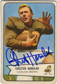 CHESTER HANULAK CLEVELAND BROWNS AUTOGRAPHED VINTAGE ROOKIE FOOTBALL CARD #90713O