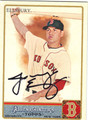 JACOBY ELLSBURY BOSTON RED SOX AUTOGRAPHED BASEBALL CARD #90813F