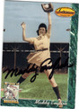 MADDY ENGLISH RACINE BELLES AUTOGRAPHED BASEBALL CARD #90913F