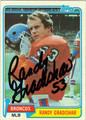 RANDY GRADISHAR AUTOGRAPHED VINTAGE FOOTBALL CARD #91011B