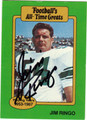JIM RINGO GREEN BAY PACKERS AUTOGRAPHED FOOTBALL CARD #91113B