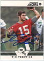 TIM TEBOW AUTOGRAPHED FOOTBALL CARD #91112D
