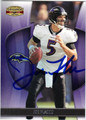 JOE FLACCO BALTIMORE RAVENS AUTOGRAPHED FOOTBALL CARD #91213L
