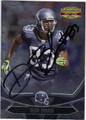 DEION BRANCH SEATTLE SEAHAWKS AUTOGRAPHED FOOTBALL CARD #91313i