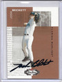 Josh Beckett Autographed & Numbered Baseball Card #91410D