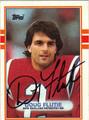 DOUG FLUTIE AUTOGRAPHED FOOTBALL CARD #91312A