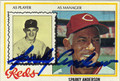 SPARKY ANDERSON AUTOGRAPHED VINTAGE BASEBALL CARD #91412C
