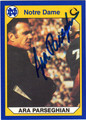 ARA PARSEGHIAN AUTOGRAPHED FOOTBALL CARD #91312J