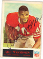 ABE WOODSON ST LOUIS CARDINALS AUTOGRAPHED VINTAGE FOOTBALL CARD #91313G