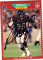 RICHARD DENT AUTOGRAPHED FOOTBALL CARD #91512T