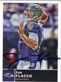 JOE FLACCO BALTIMORE RAVENS AUTOGRAPHED FOOTBALL CARD #91512K