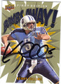 KERRY COLLINS TENNESSEE TITANS AUTOGRAPHED FOOTBALL CARD #91513G