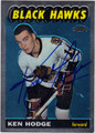 KEN HODGE AUTOGRAPHED HOCKEY CARD #91812i