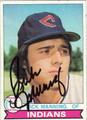 RICK MANNING AUTOGRAPHED VINTAGE BASEBALL CARD #91712K