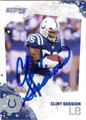 CLINT SESSION AUTOGRAPHED FOOTBALL CARD #91812S
