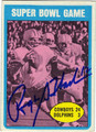 ROGER STAUBACH DALLAS COWBOYS AUTOGRAPHED ROOKIE YEAR FOOTBALL CARD #91912H