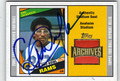 ERIC DICKERSON AUTOGRAPHED PIECE OF THE GAME FOOTBALL CARD #91712O