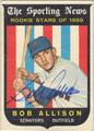 BOB ALLISON AUTOGRAPHED VINTAGE ROOKIE BASEBALL CARD #91812A