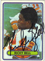 RICKY BELL AUTOGRAPHED VINTAGE FOOTBALL CARD #91812Q