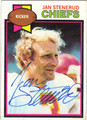 JAN STENERUD AUTOGRAPHED VINTAGE FOOTBALL CARD #92012A