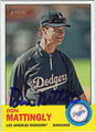 DON MATTINGLY LOS ANGELES DODGERS AUTOGRAPHED BASEBALL CARD #92012C