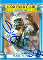 MARK DUPER MIAMI DOLPHINS AUTOGRAPHED VINTAGE FOOTBALL CARD #92013G
