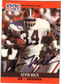 KEVIN MACK CLEVELAND BROWNS AUTOGRAPHED FOOTBALL CARD #92113G