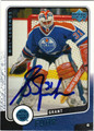 GRANT FUHR AUTOGRAPHED HOCKEY CARD #92012N