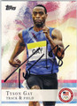 TYSON GAY AUTOGRAPHED OLYMPIC TRACK & FIELD CARD #91913B