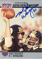 MIKE WAGNER AUTOGRAPHED FOOTBALL CARD #92312G