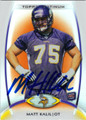 MATT KALIL MINNESOTA VIKINGS AUTOGRAPHED ROOKIE FOOTBALL CARD #92313F