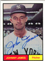 JOHNNY JAMES AUTOGRAPHED BASEBALL CARD #92411L