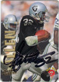 MARCUS ALLEN LOS ANGELES RAIDERS AUTOGRAPHED FOOTBALL CARD #92413K