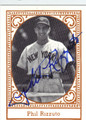 PHIL RIZZUTO AUTOGRAPHED VINTAGE BASEBALL CARD #92511G