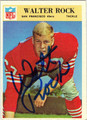 WALTER ROCK AUTOGRAPHED VINTAGE FOOTBALL CARD #92512A