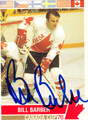 BILL BARBER AUTOGRAPHED HOCKEY CARD #92512N