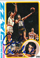 GAIL GOODRICH AUTOGRAPHED VINTAGE BASKETBALL CARD #92612B