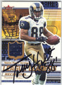 TORRY HOLT ST LOUIS RAMS AUTOGRAPHED PIECE OF THE GAME FOOTBALL CARD #92613G