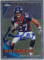 ERIC DECKER AUTOGRAPHED ROOKIE FOOTBALL CARD #92611D